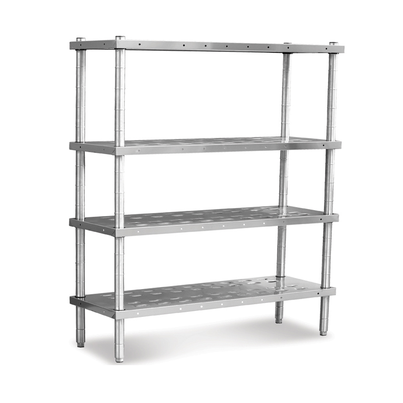 STACK SHELF 4 PERFORATED SHELVES