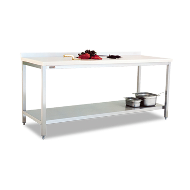 POLYETHLENE TOP TABLE (WITH BOTTOM SHELF)