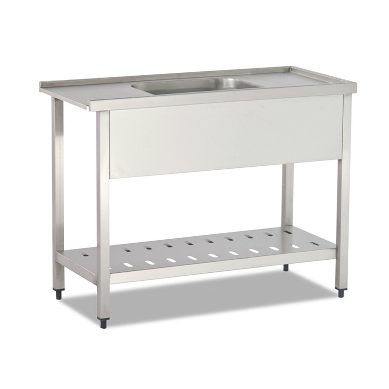 DISHWASHER INLET TABLE (WITH SINGLE SINK - BOTTOM SHELF)